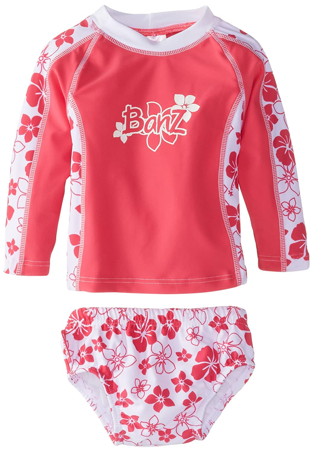 Baby Banz Baby Girls Long Sleeve Rash Guard and Swim Diaper Baby Banz Baby Apparel