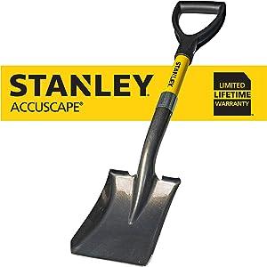 Stanley Garden BDS8088 Mini D-Handle Square Head Shovel, Yellow