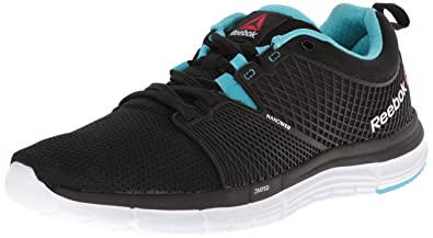 Reebok Women's Zquick Dash Running Shoe, Black/Blue Pool/White, ...