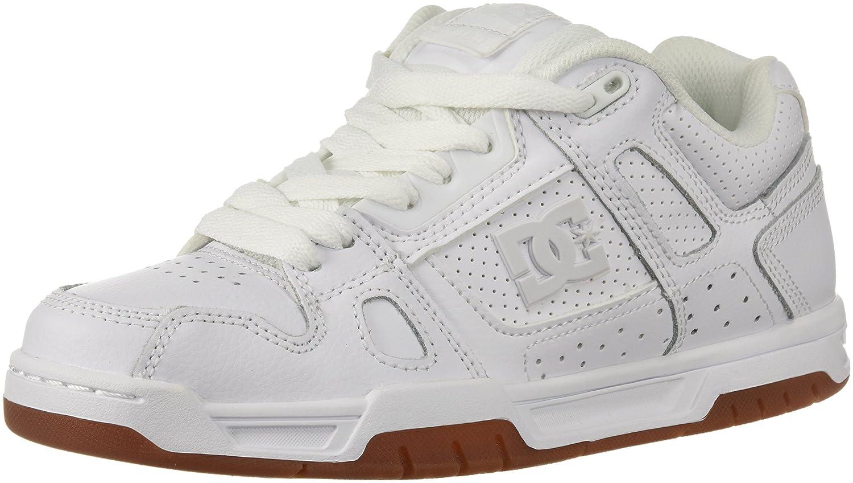 DC Shoes STAG D0320188 - Zapatillas de cuero para hombre 41 EU|White Wg5