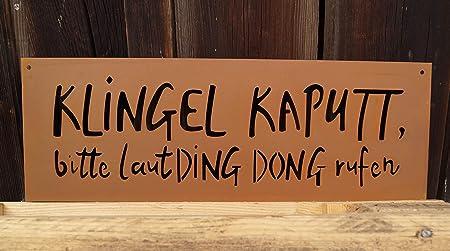 Edelrost Tafel Klingel Kaputt 49x17cm Inkl Herz 8x6cm