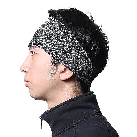 1a46bf49ffa4 Headbands for Men - Moisture Wicking Turban Elastic No Slip Head Wrap Hair  Band for Basketball