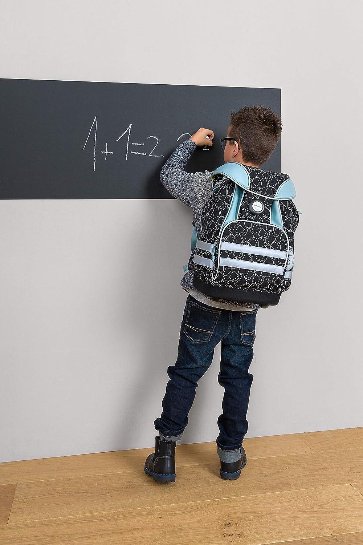 L/ÄSSIG Grundschulrucksack//Schulranzen Junge mit klick-Verschlu/ß Reflektoren integrierter Regenschutz wasserfester Boden Namensschild//School Bag Spooky