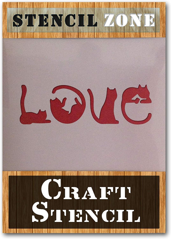 Xlarge Pochoir pour peinture murale en mylar Motif chat A1 Stencil