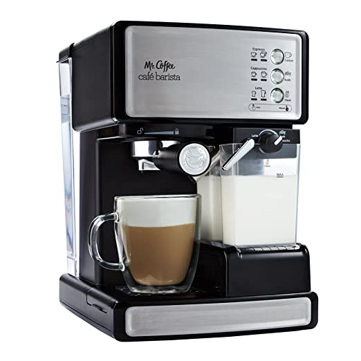 Mr. Coffee Cafe Barista Espresso Maker with Automatic milk frother, BVMC-ECMP1000 by Mr. Coffee Espresso Machines at amazon