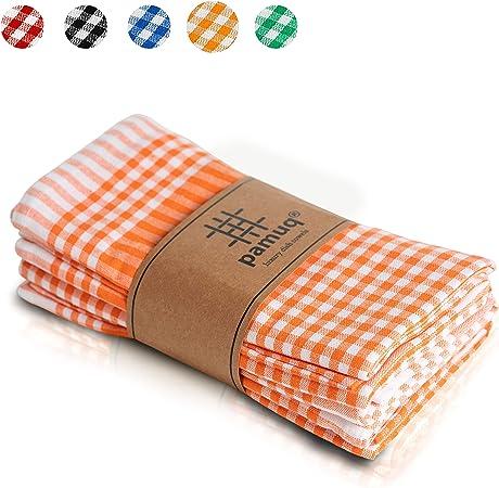 pamuq® paños de cocina de algodón 100% | paquete de 5 | 45 x 65 cm a cuadros | con colgador | diferentes colores | trapos de cocina | toallas de cocina: Amazon.es: Hogar