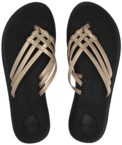 8f7d7e15e9a695 Sanuk Women s Yoga Salty Metallic Flip-Flop