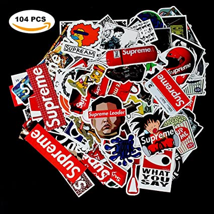 Sticker decals supreme laptop vinyl stickers car sticker for snowboard motorcycle bicycle phone mac computer