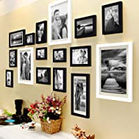 Art Street Set of 16 Individual Black and White Photo Frame (3 Units of 8X10, 4 Units of 6X8, 4 Units of 5X7, 3 Units of 4X6, 2 Units of 6X10)