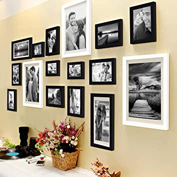 338da52043f Buy Art Street Set of 16 Individual Black and White Photo Frame