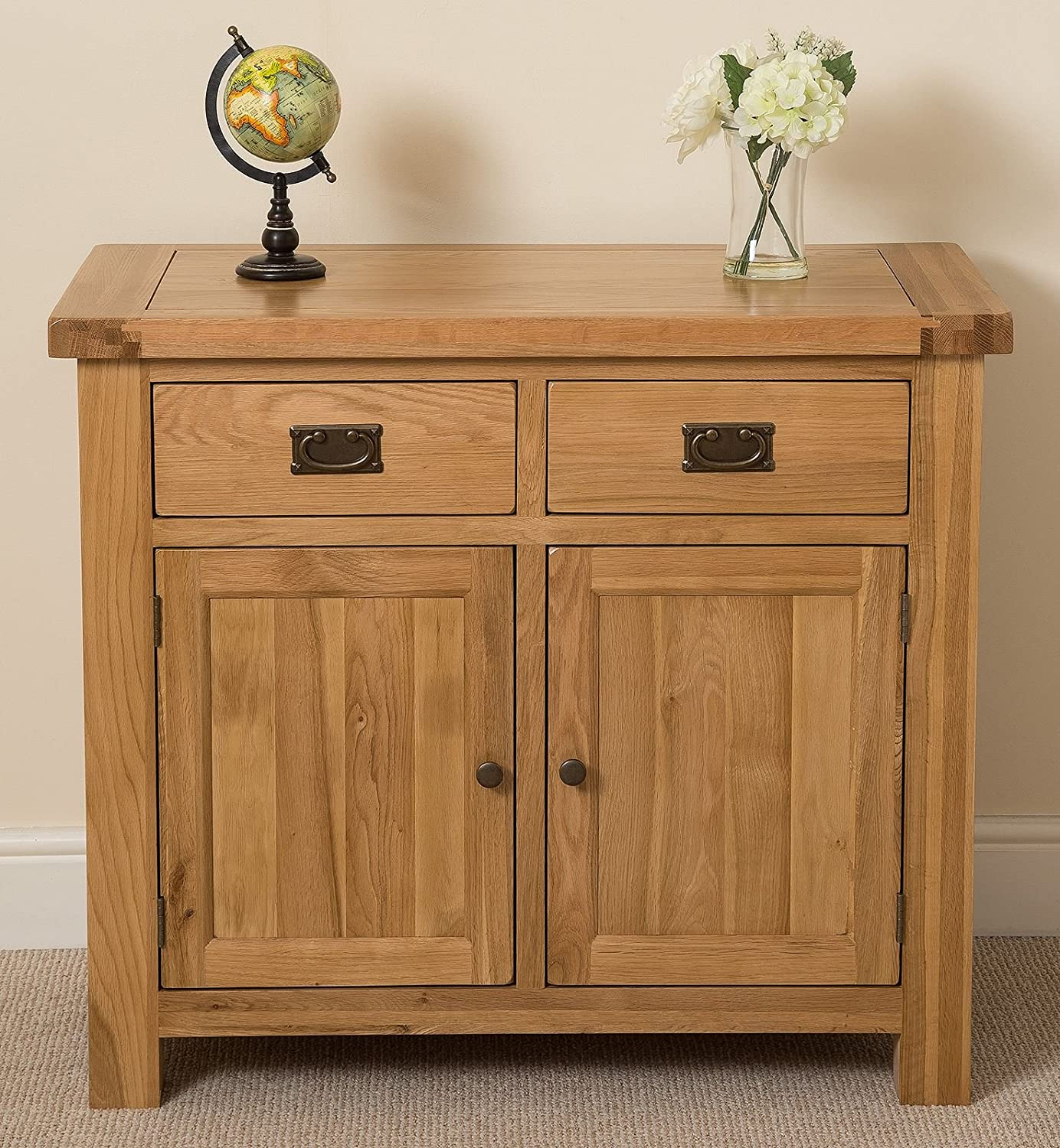 Cottage Solid Oak Small Sideboard Cabinet, 19 X 19 X 19 cm: Amazon ...