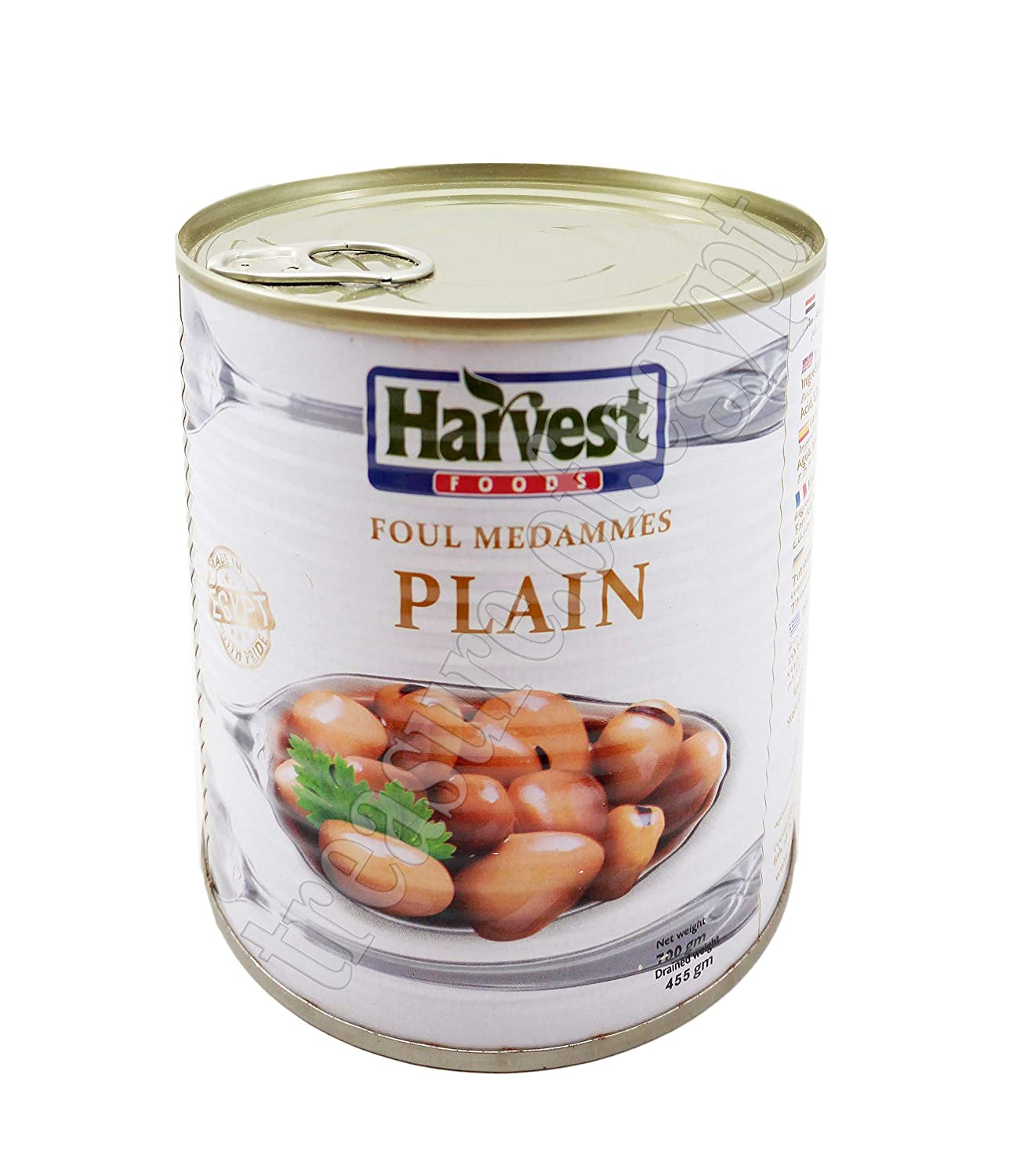 Egyptian Harvest Plain Fava Beans Foul Medames Premium Quality Cooked Ready To Eat 700 g فول مدمس