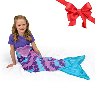 Snuggie Tails Mermaid Blanket- Comfy, Cozy, Super Soft, Warm, All Season, Wearable Blanket for Kids, As Seen on TV (Purple): Home & Kitchen [5Bkhe0306768]