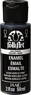 product image for FolkArt Enamel Glass & Ceramic Paint in Assorted Colors (2 oz), 4032, Licorice