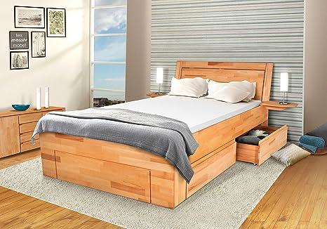 Camera letto in legno di faggio massiccio - Bela - 140 x 200 cm ...