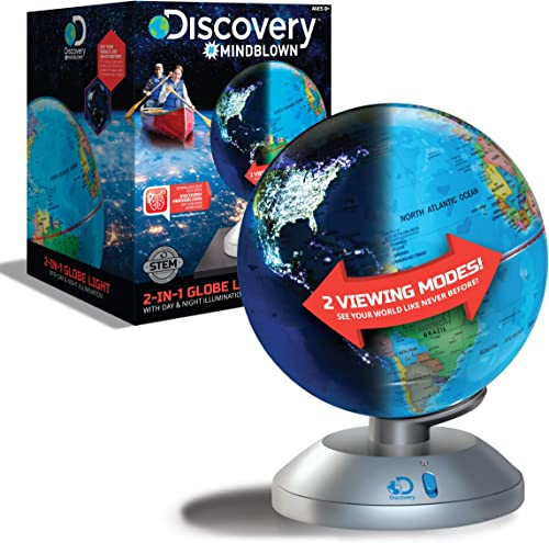Discovery Kids 2-in-1 World Globe LED Lamp w/Day & Night Modes