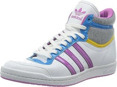 Adidas Originals Top Ten Hi Sleek W - Zapatillas, blanco - Weiß (RUNNING WHITE FTW / JOY ORCHID S13 / TRIBE YELLOW S14), 36.6666666667: Amazon.es: Zapatos y complementos