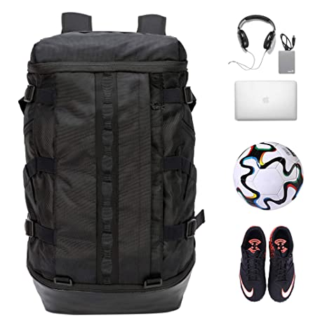 d08af2eab184 TRAILKICKER Basketball Backpack, Sports Backpack with Laptop Compartment,  Best for Soccer, Gym, Football & Volleyball with Ball Compartment