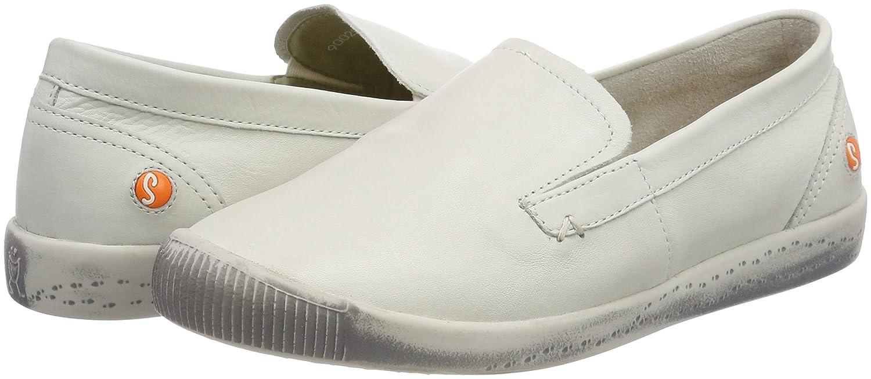Softinos ITA298SOF Smooth, Mocassins Femme, Blanc (White 010), 37 EU