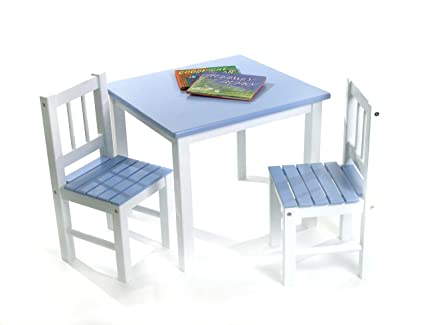 Amazon.com: Lipper International 513BL Child\'s Table and 2 Chairs ...