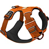 RUFFWEAR, Front Range Dog Harness, Reflective and Padded Harness for Training and Everyday, Campfire Orange, Medium