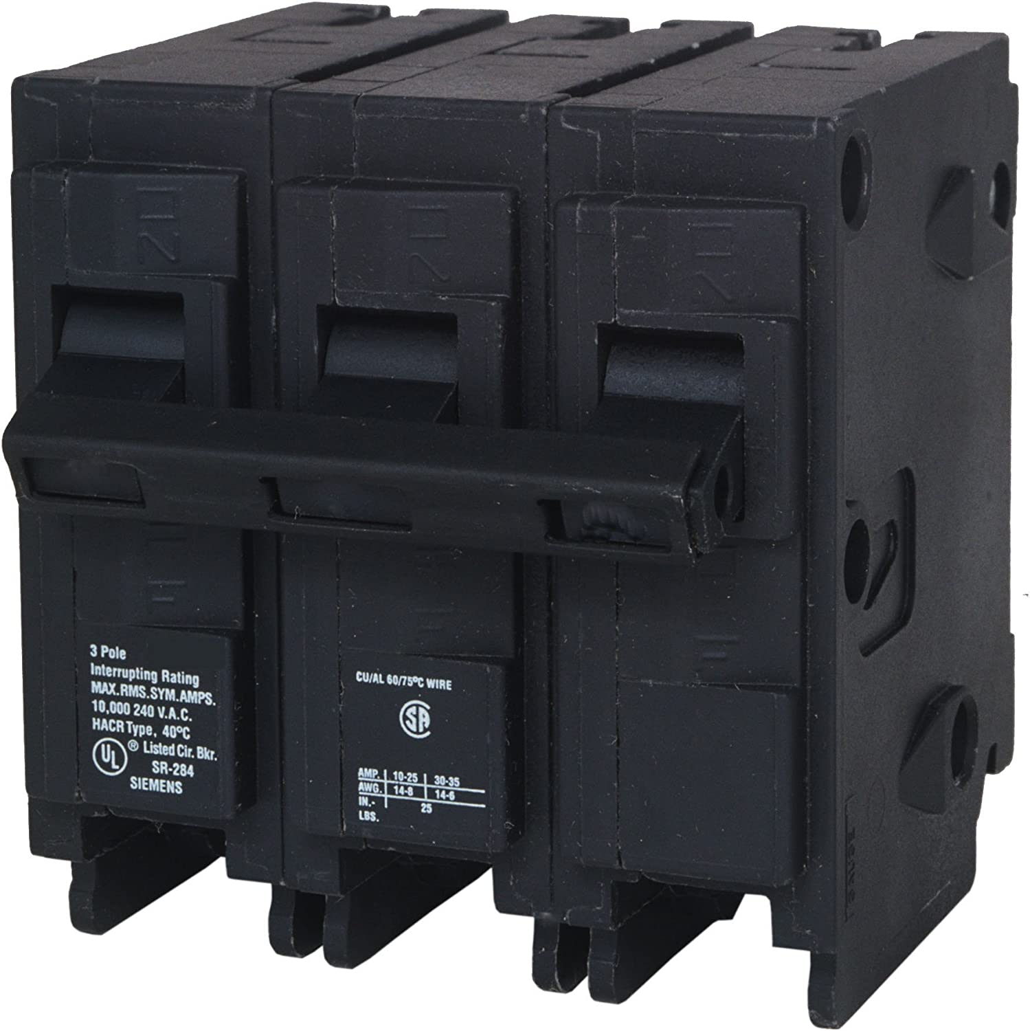 Q360H 60-Amp Three Pole 22kA Type QPH Circuit Breaker