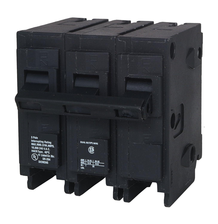 Siemens Q325 25-Amp 3 Pole 240-Volt 10-Kaic Circuit Breaker ...