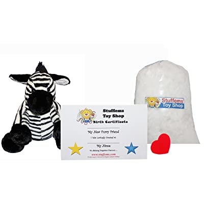 Make Your Own Stuffed Animal Mini 8 Inch Zippy The Zebra Kit - No Sewing Required!: Toys & Games