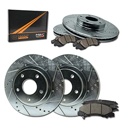 Max Brakes Front Carbon Ceramic Performance Disc Brake Pads KT138551 2009 09 Ford F150 w//7 Lugs Fits