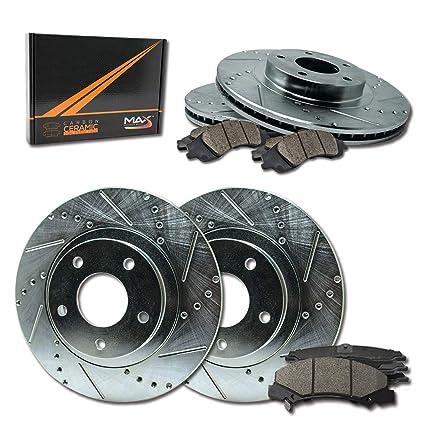 Rotors Metallic Pads F+R OE Replacement 2002 2003 Fits Nissan Maxima