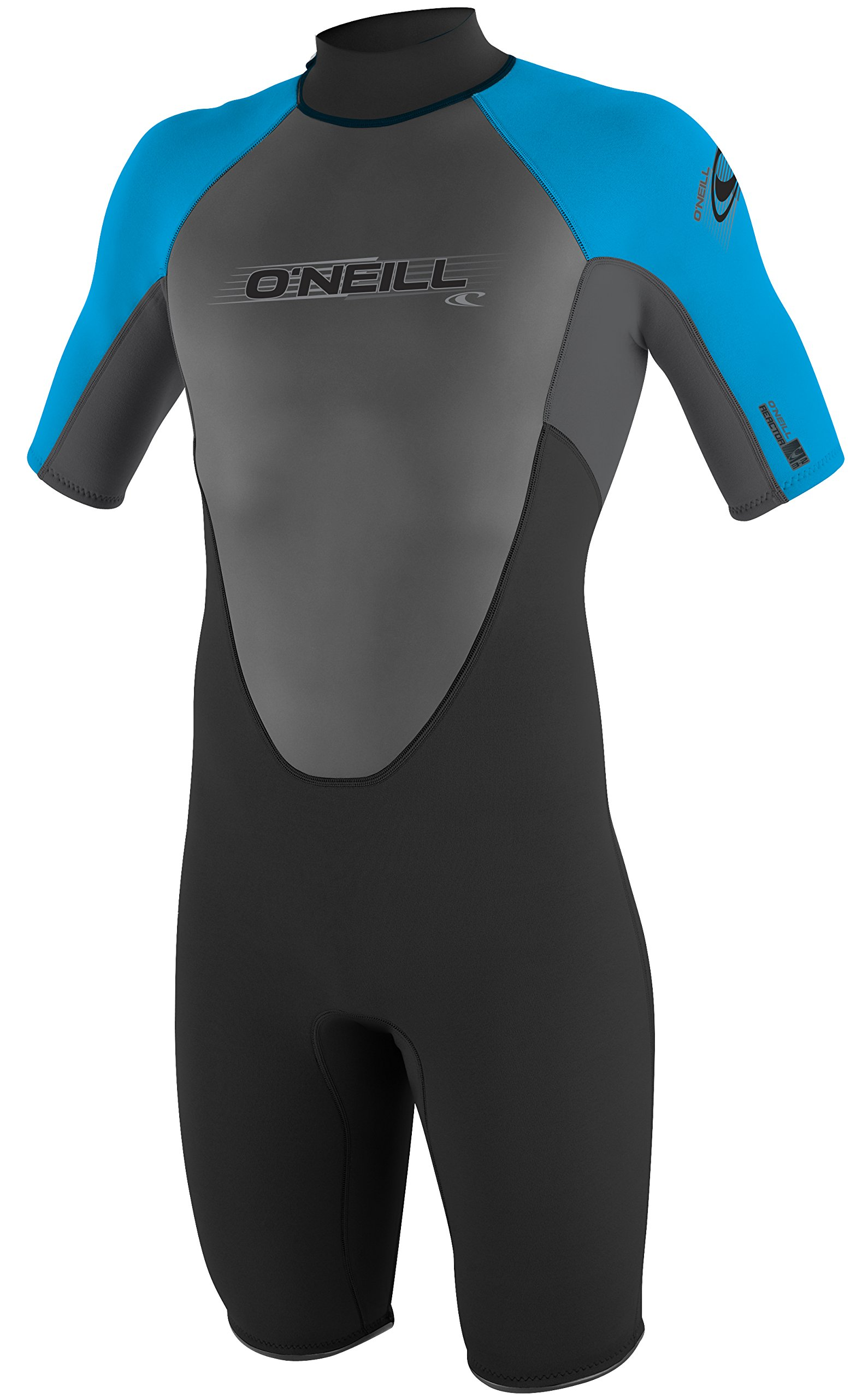 O'Neill Wetsuits Men's 2mm Reactor Spring Suit, Black Smoke Tahiti, Medium