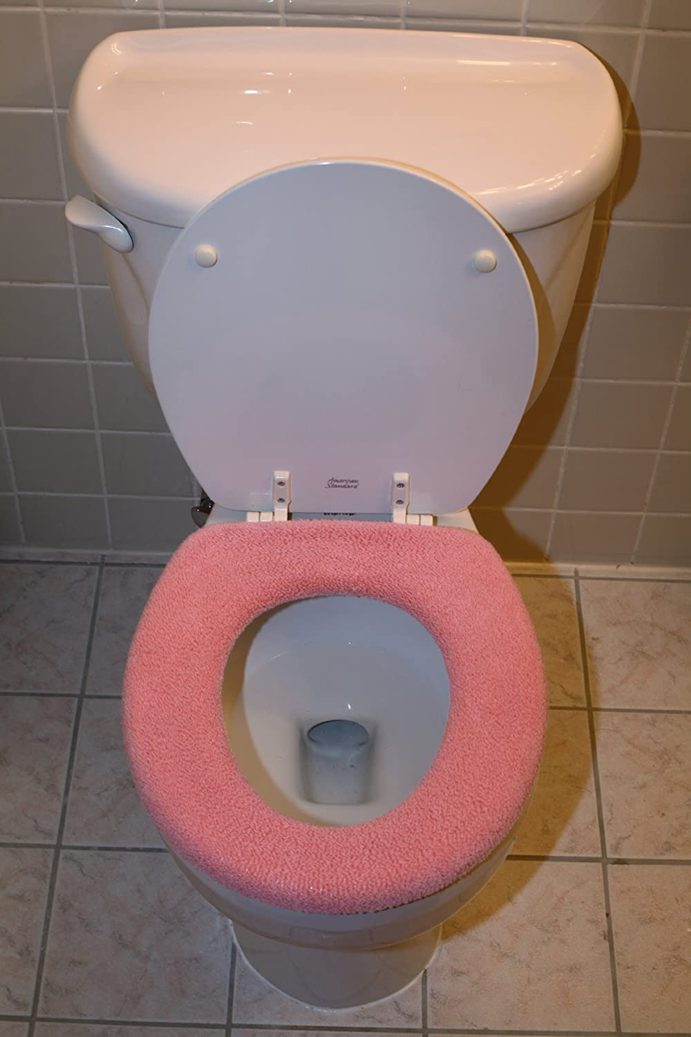 Amazon Warm And Fuzzy Toilet Seat Covers Pink Home Kitchen
