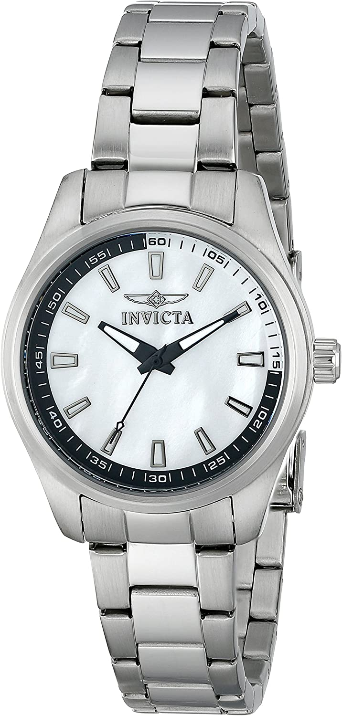 Invicta 12830 - Reloj de Cuarzo para Mujeres, Color Plata