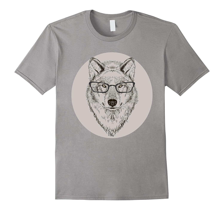 Hand Drawn Fashion Animal Art   Hipster Fox & Wolf T-Shirt-AZP