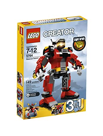 Amazon.com: LEGO Creator Rescue Robot 5764: Toys & Games