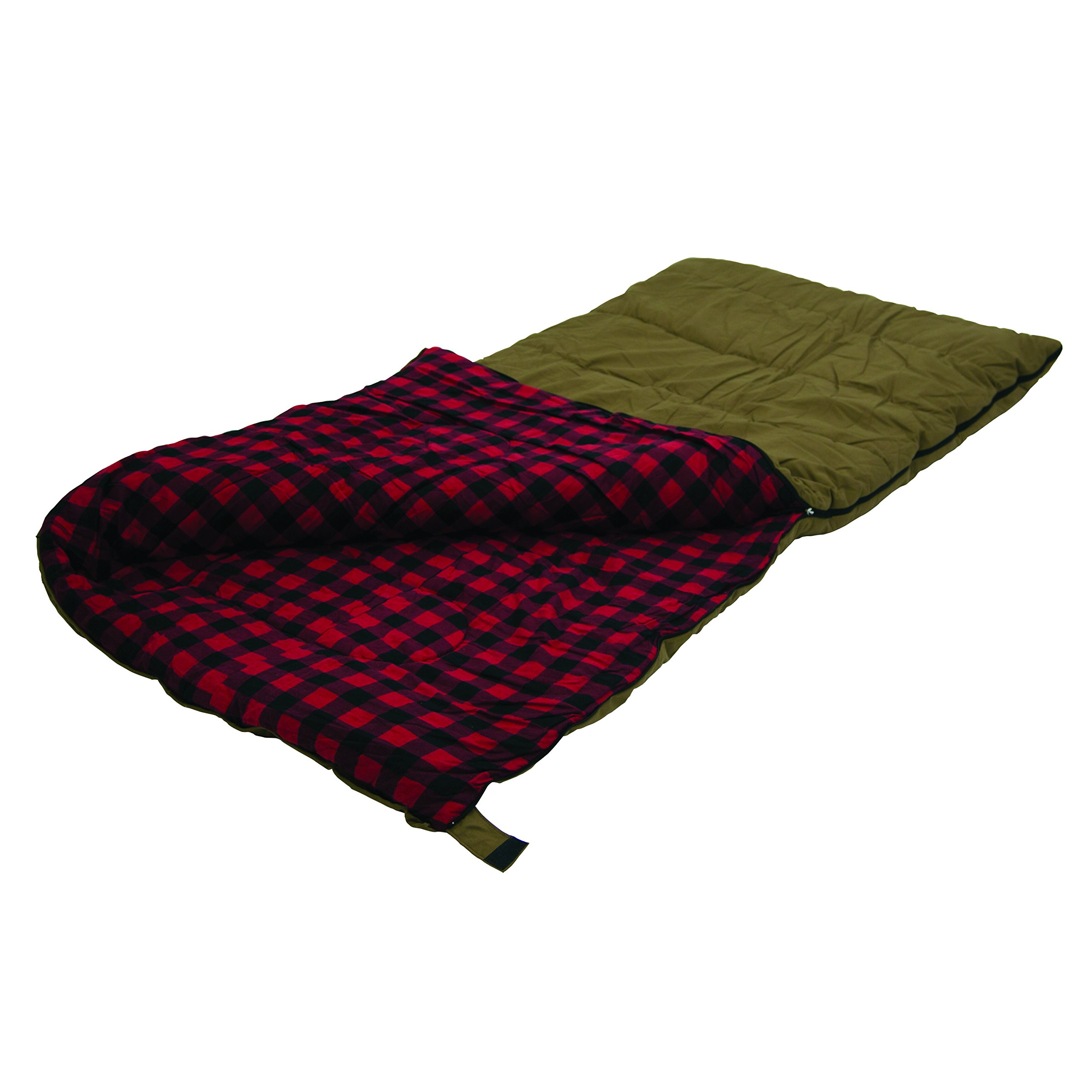 Stansport Kodiak 6 Lb. Canvas Sleeping Bag, 81'' x 39'' - Brown