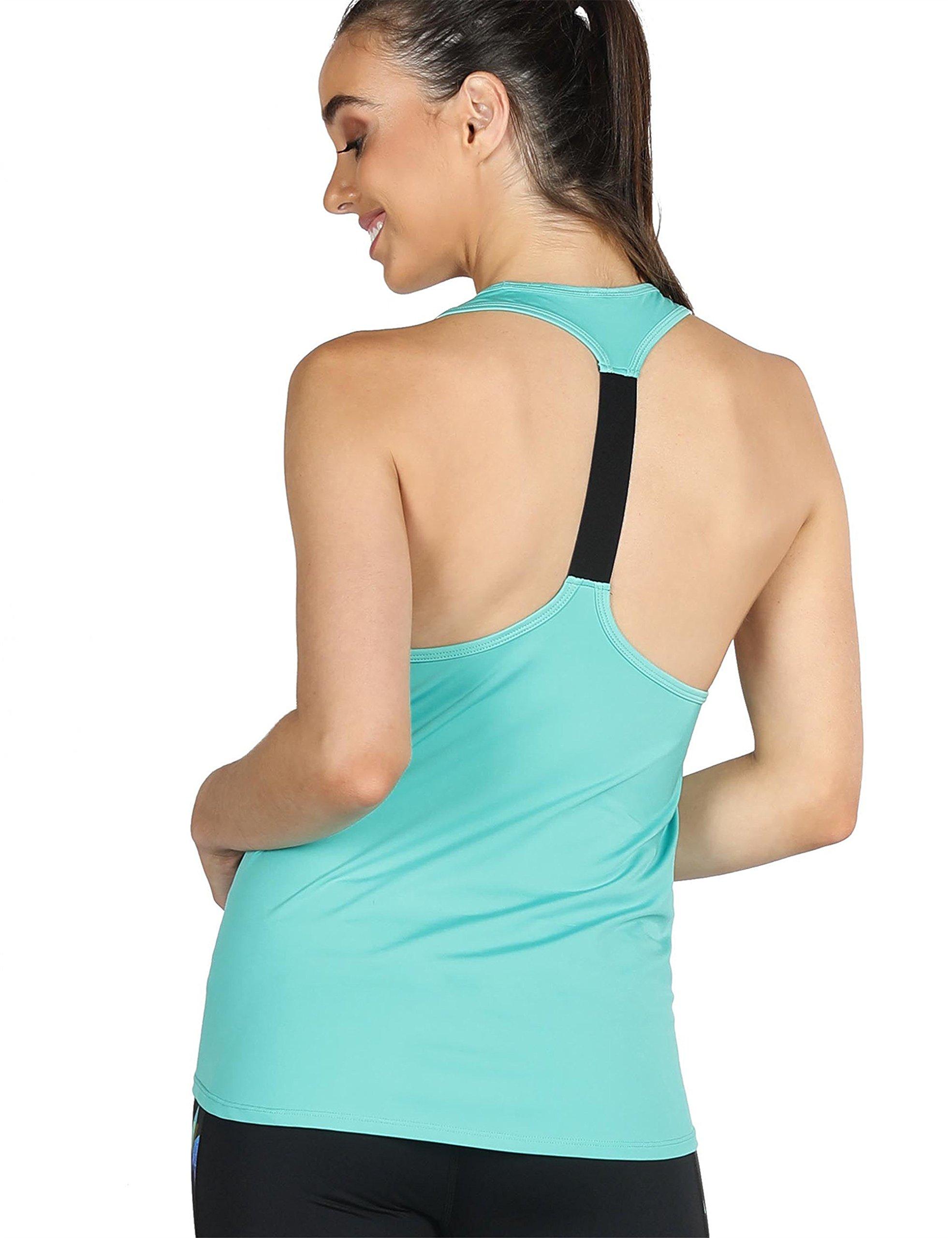 icyzone Activewear Workout Yoga Fitness Sports Racerback Tank Top T-Back Women (S, Florida Keys)