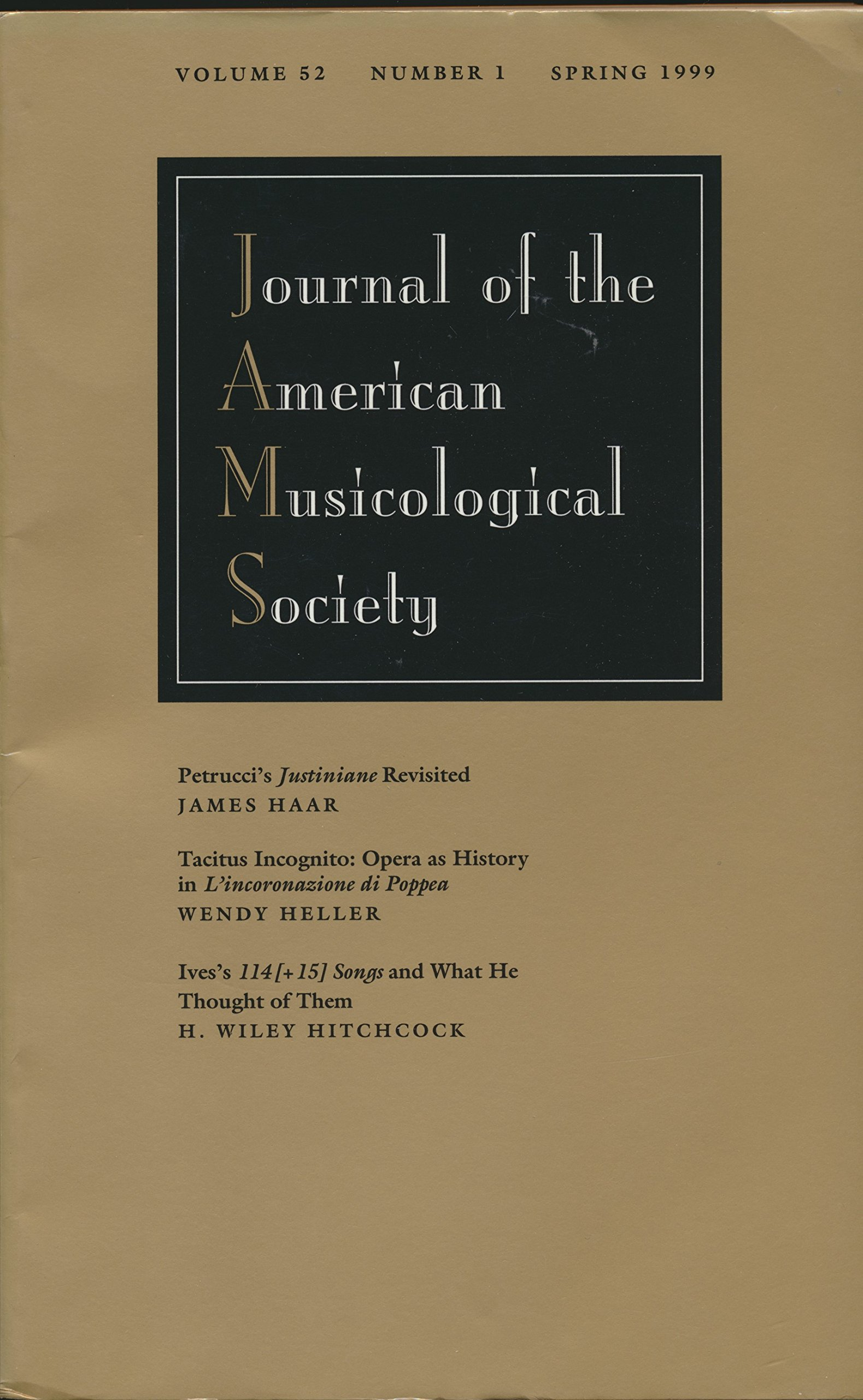 American Musicological Society: Petrucci's Justiniane