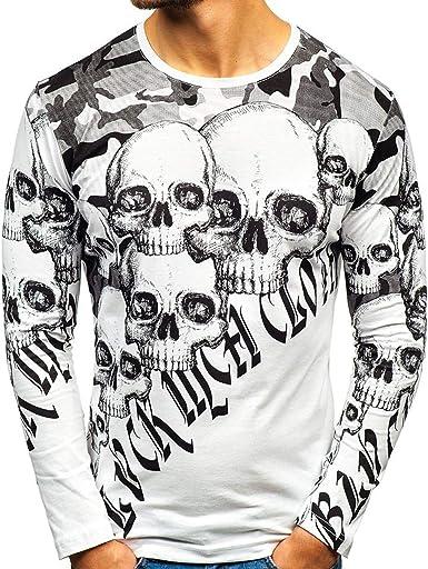 Camiseta con Estampado de Calavera de Moda para Hombre ...