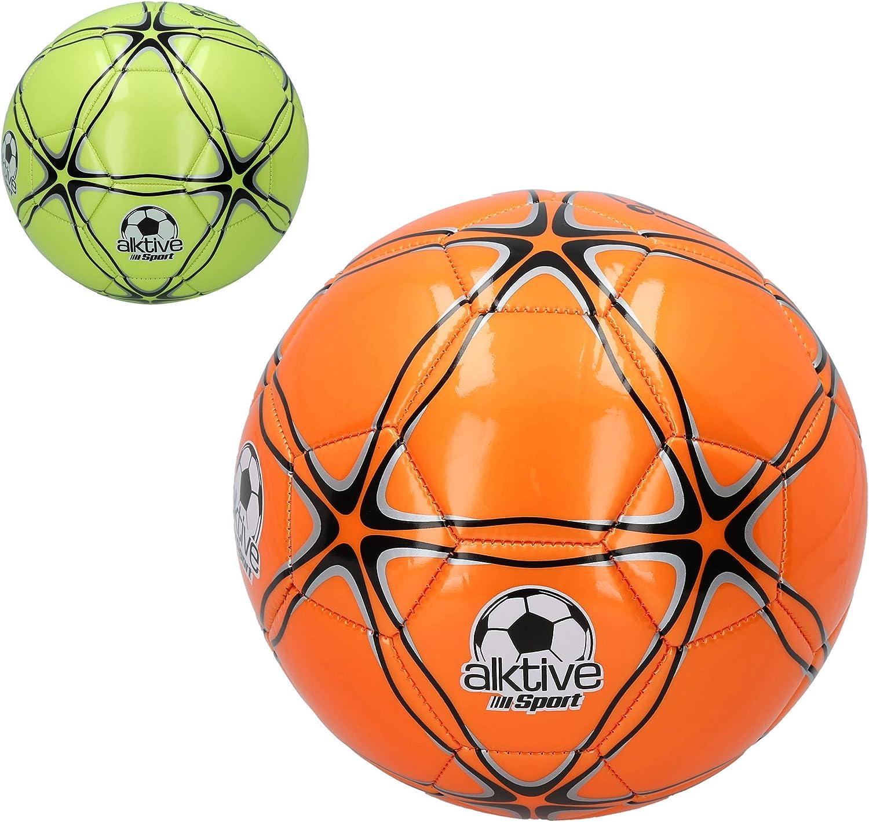 CB- Balón fútbol Cuero sintético 420gr flúor, Multicolor (52496 ...
