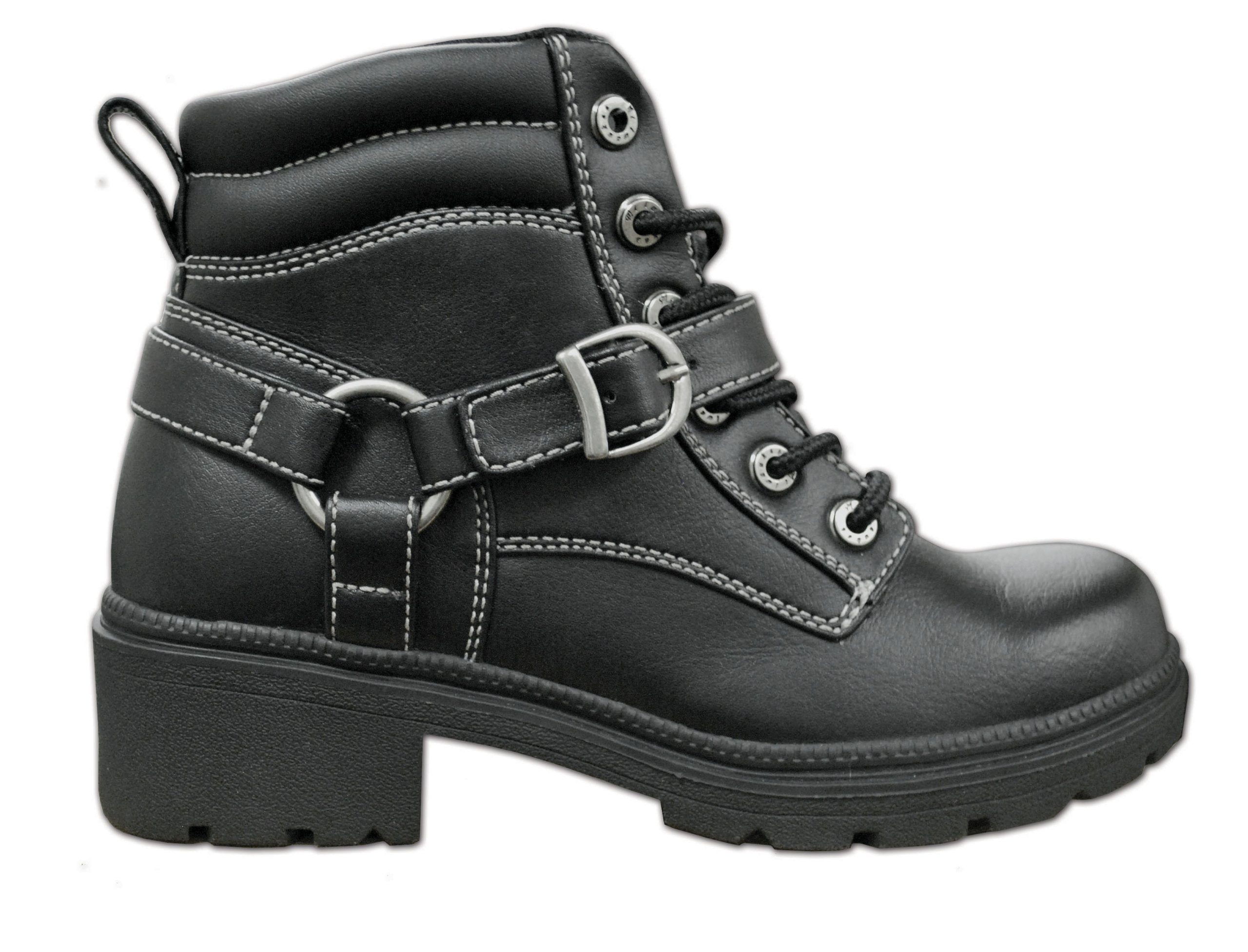 Milwaukee Motorcycle Clothing Company Womens Paragon Boots (Black, Size 8.5)