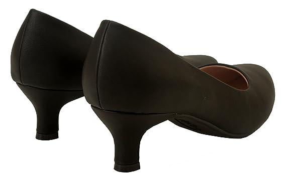 Comfort Plus Damen-Slipper, weite Passform, Memory-Schaum, rutschfest, mittelhoher Absatz, für Party, Büro, Arbeit