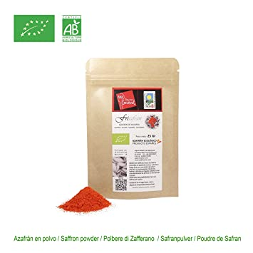 Amazon.com : FRISAFRAN - Organic Spanish Saffron EcoCertified/POWDER ...