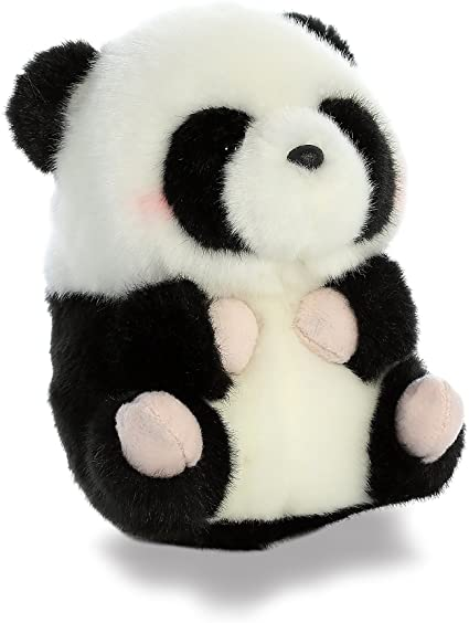 Aurora World Rolly Pet Precious Panda Plush Stuffed Animal Handmade In Indonesia