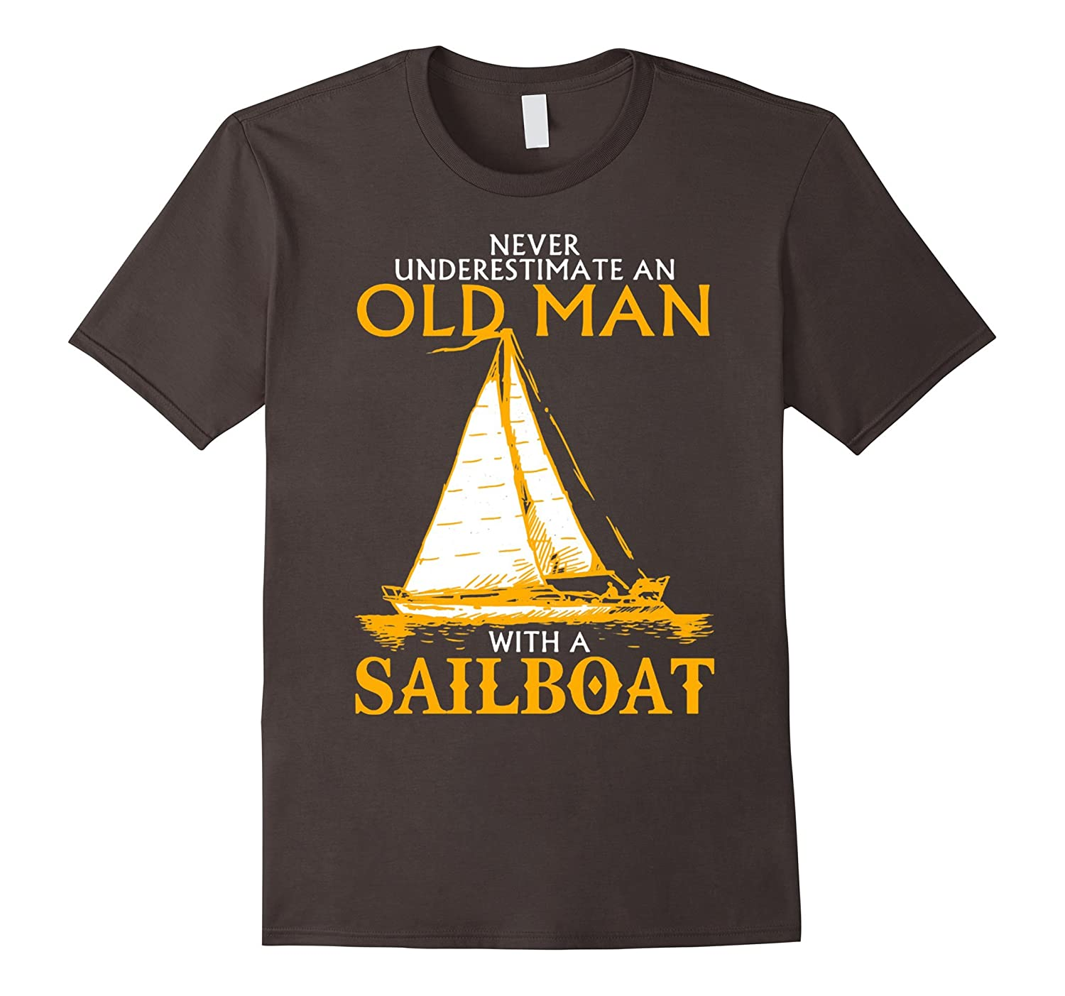 Men S Old Man With A Sailboat T Shirt Art Artvinatee
