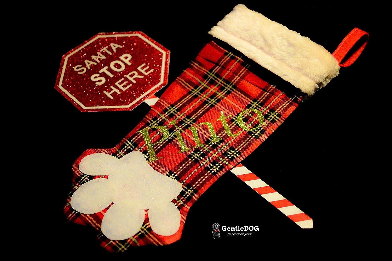 Calcetín de Navidad con forma de huella