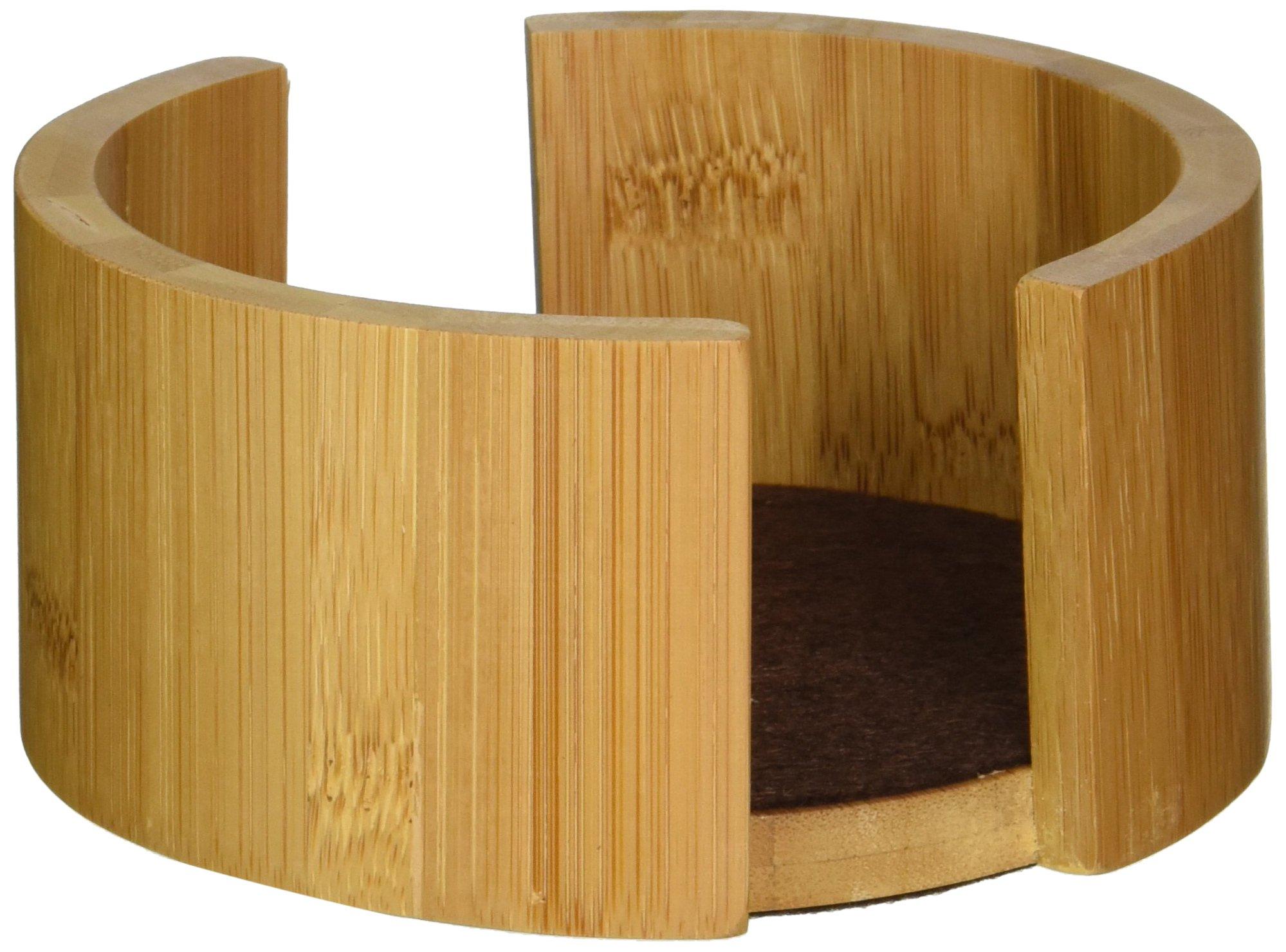 Thirstystone Circular Bamboo Coaster Holder