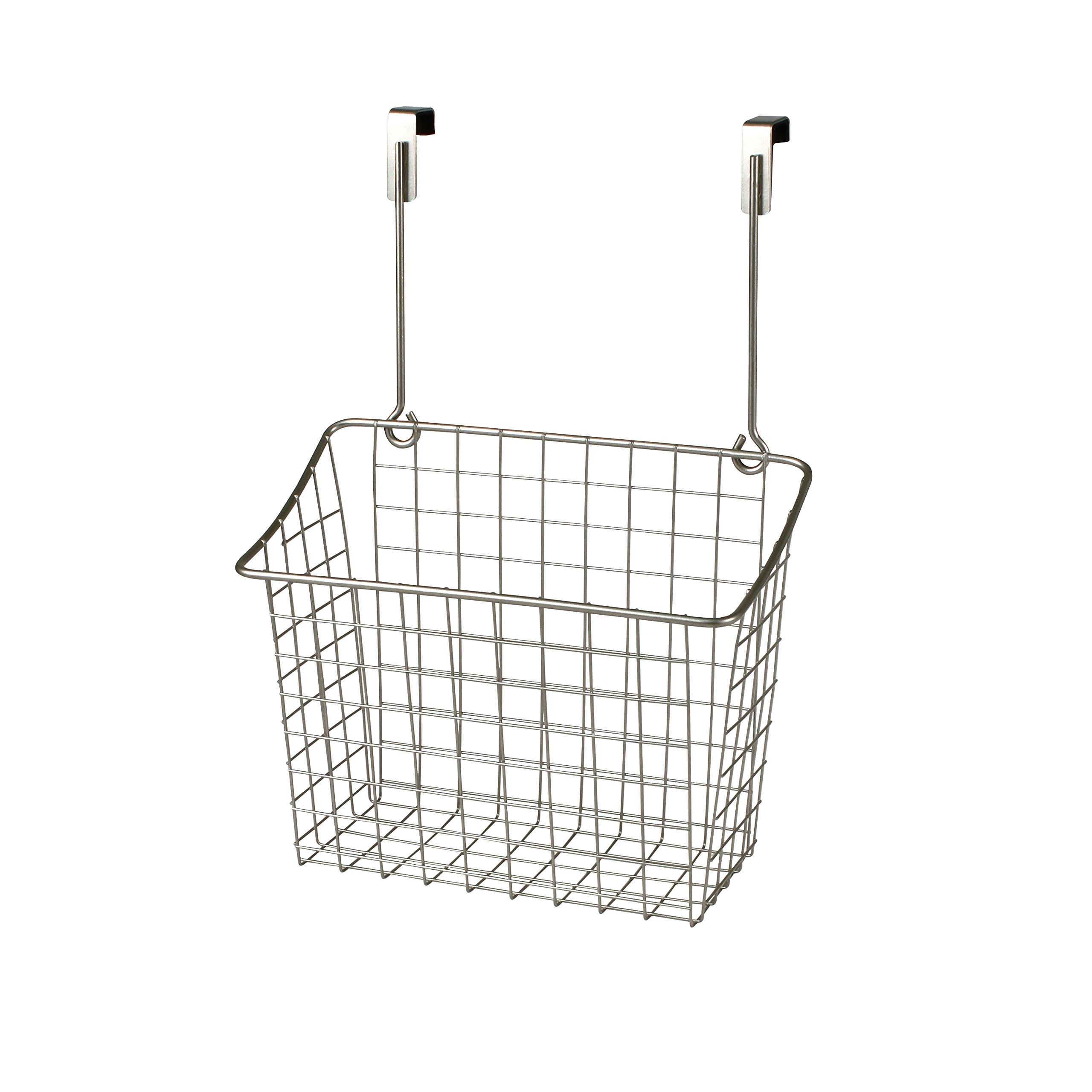 Spectrum Diversified Over-The-Cabinet/Drawer Grid Basket, Large, Satin Nickel
