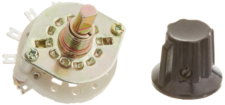 Sourcingmap - Selector de conmutador giratorio 1p6t pomo de ...