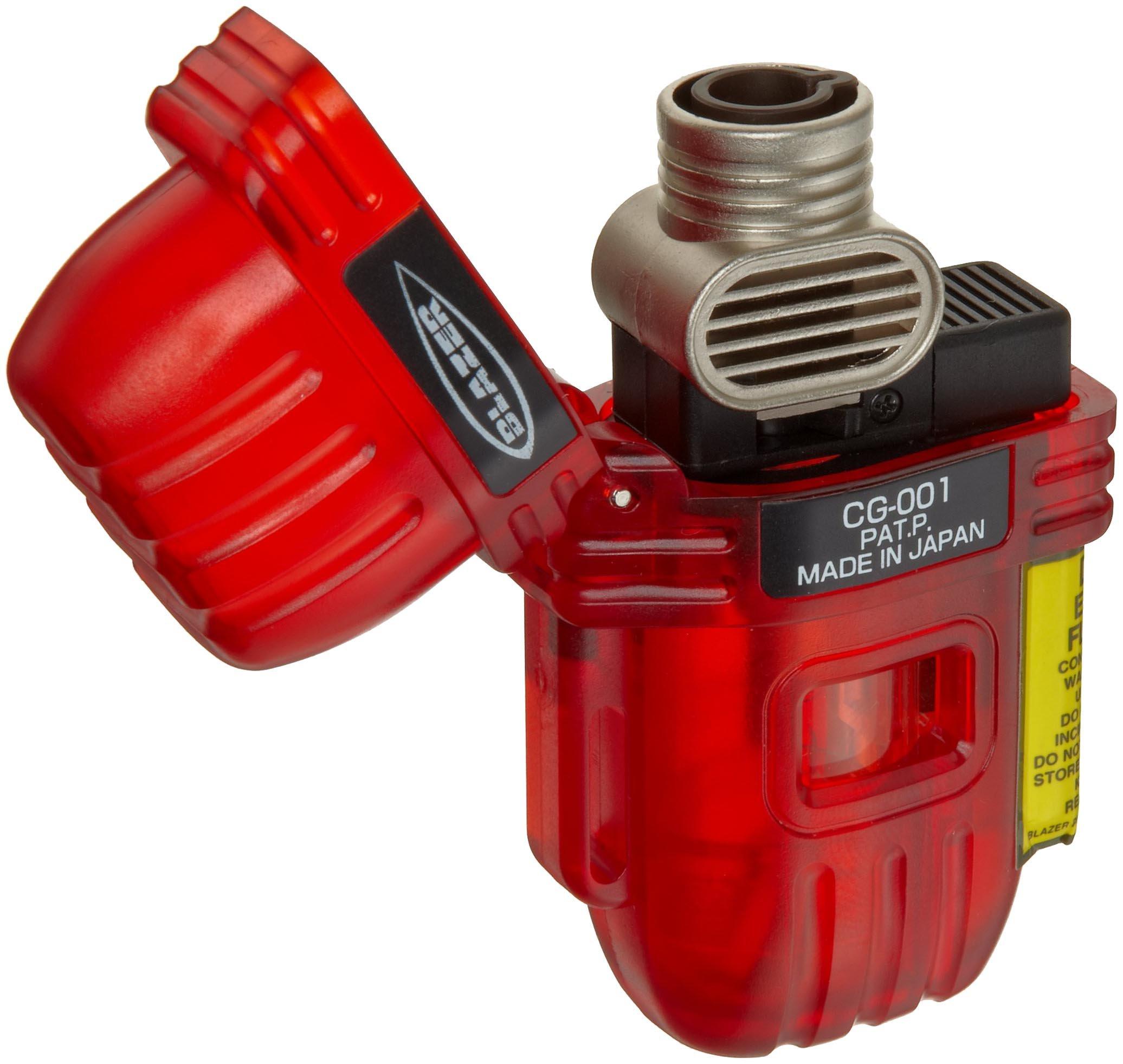Blazer CG-001 Butane Refillable  Torch Lighter, Red